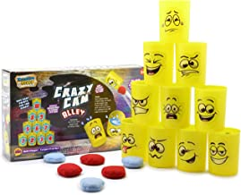 Juguetes para Exterior Disney Toy Story 4 Juego Latas para Ni/ños Juego De Punter/ía para Ni/ños Y Ni/ñas Juegos De Jardin con 10 Latas Y 3 Bolas De Lanzamiento