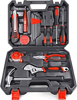 Arrinew General Household Hand Tools Kit 19 PCS Home Repair Tools Set Made of High-Grade Steel Alloy Home Hand Tool Set Ki...