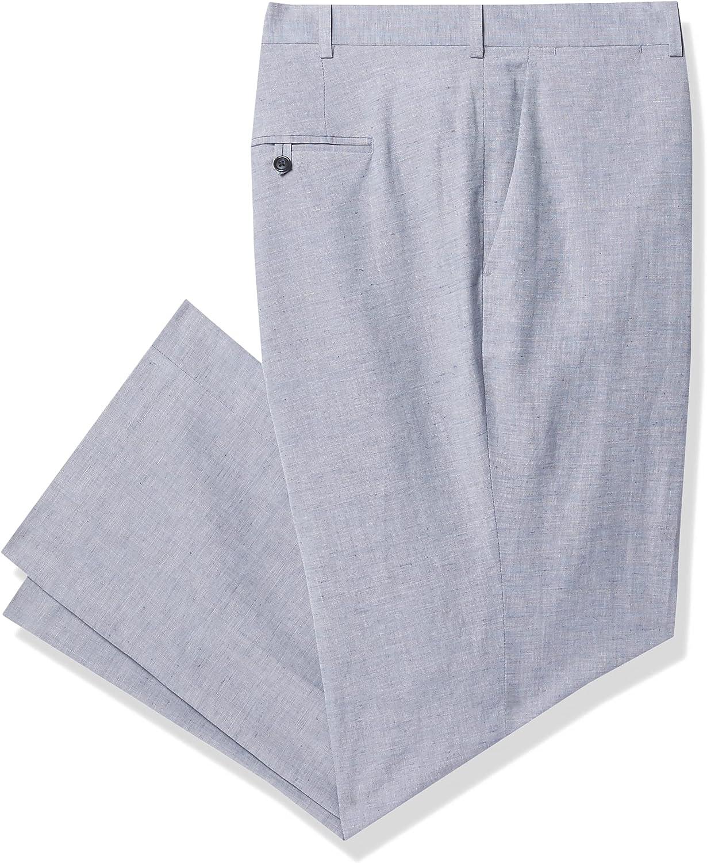 Perry Ellis Men's Big & Tall Slim Fit Linen Blend Textured Suit Pant