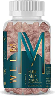 WEEM Hair Skin and Nails Gummies - Supports Collagen - Biotin Vitamins for Women & Men Supports Faster Hair Growth, Strong...