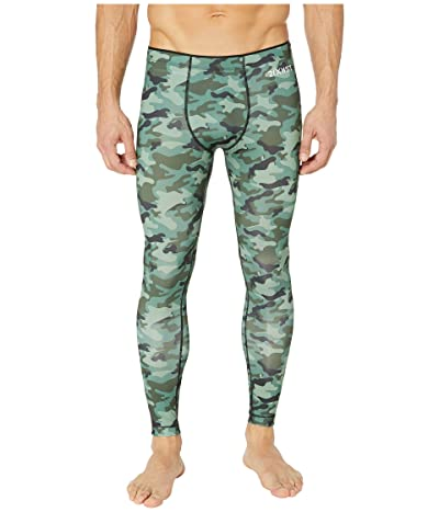 2(X)IST Sliq Performance Leggings (Traditional Camo Green) Men