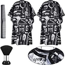 4 Pieces Professional Barber Cape with Snap Closure Set Hair Cutting Salon Cape Hairdressing Gown Apron Dressing Hair Comb...
