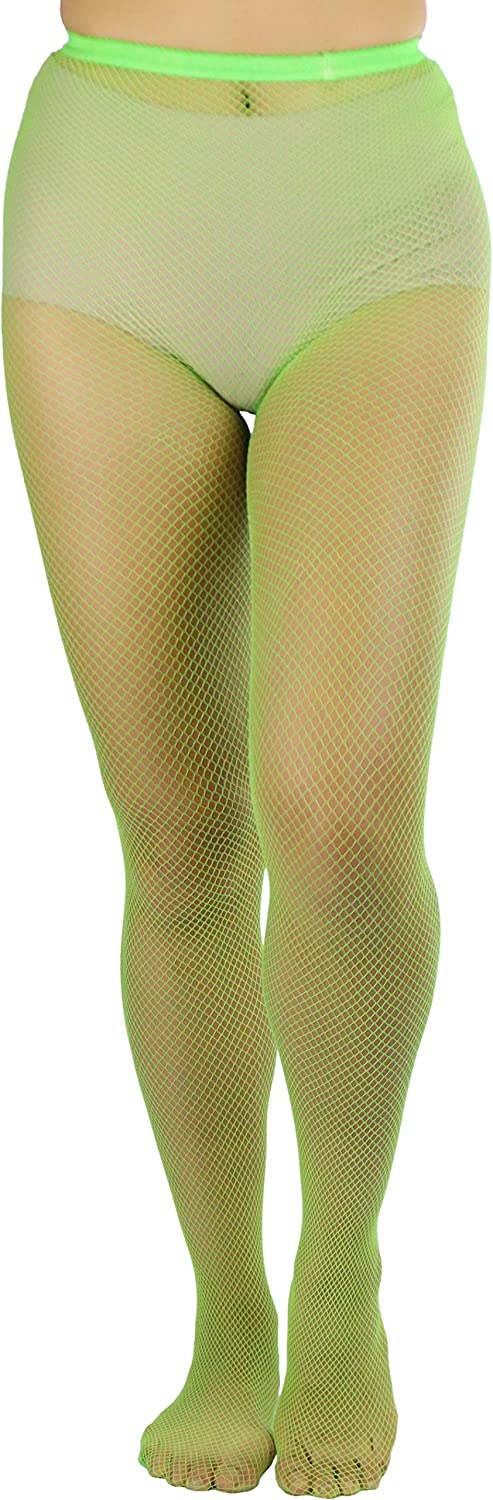 ToBeInStyle Women's Sexy Vibrant Fine Classic Fishnet Full Footed Pantyhose