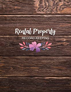 Rental Property Record Keeping: Rustic Wood Property Investor Organizer, Income & Expense Log, Yearly Financial Goals, Real Estate Investor Gift Ideas