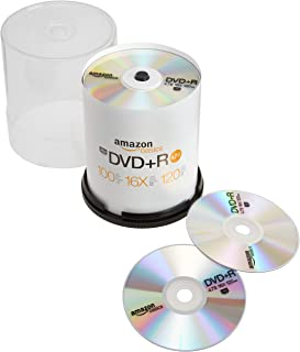 AmazonBasics 4.7 GB 16x DVD+R - 100 Pack Spindle (Renewed)