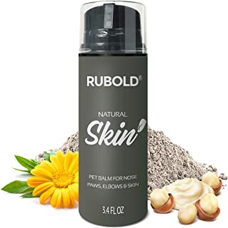 RUBOLD Natural Skin+ Nose and Dog Paw Balm - Gentle Soother and Protector for Dogs - Protection for Dry Skin, Paws, Snout and Wrinkle Without Greezy Wax - with Shea Butter, Bentonite and Calendula