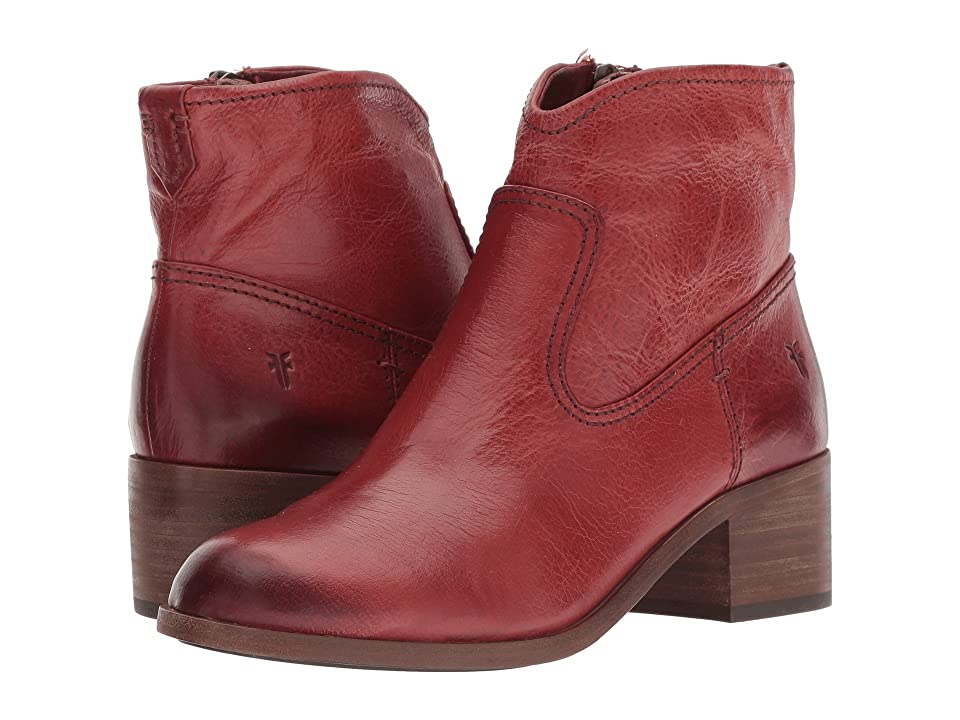 Frye Claire Bootie (Red Clay Waxed Full Veg) Women