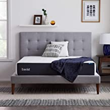 LUCID 10 Inch Memory Foam Plush Feel – Gel Infusion – Hypoallergenic Bamboo Charcoal – Breathable Cover Bed Mattress Conve...