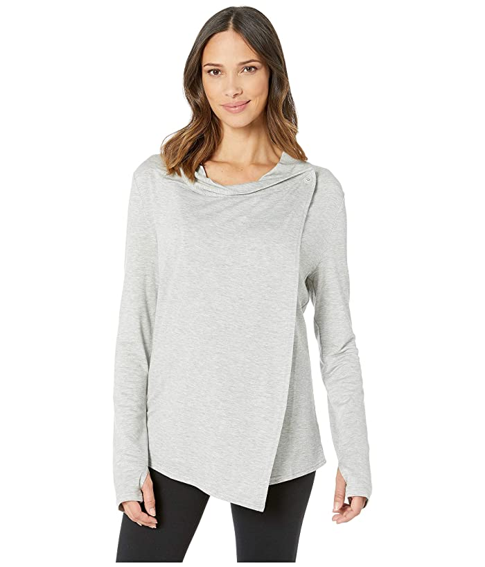 SHAPE Activewear Odyssey Wrap Sweater (Heather Grey) Women