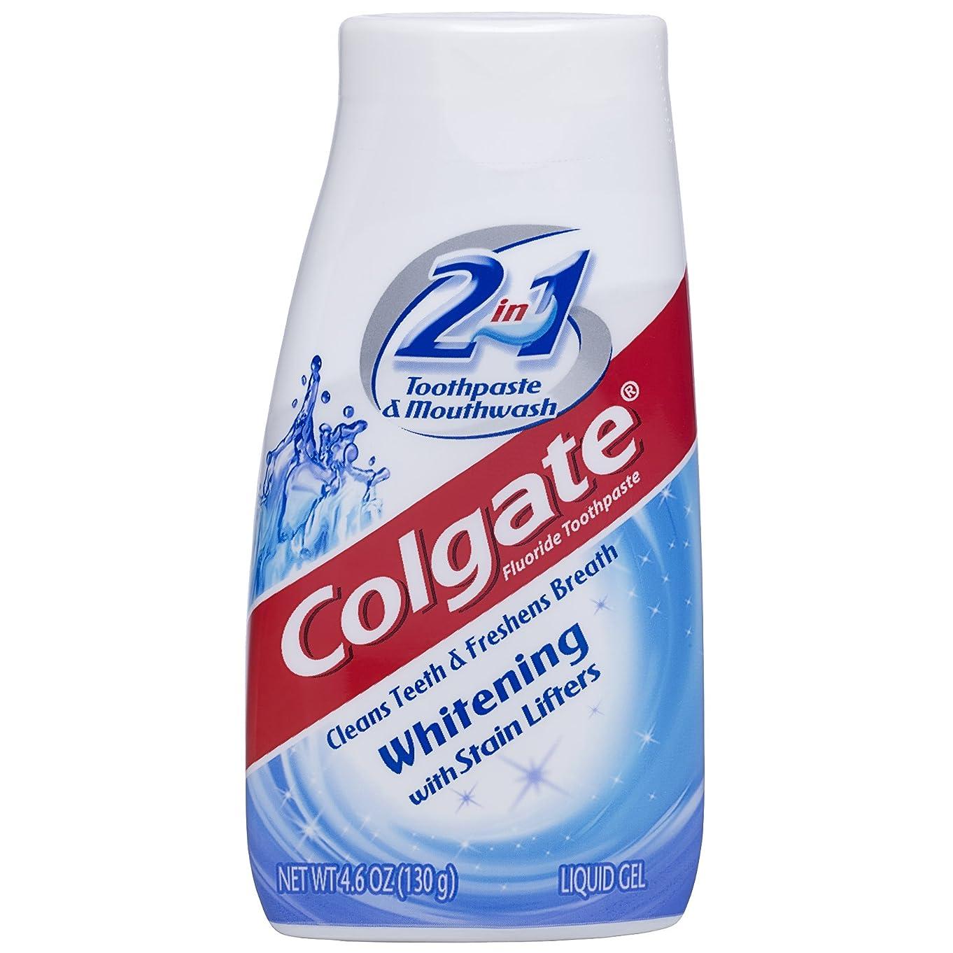 禁止シングルテント海外直送品Colgate 2 In 1 Toothpaste & Mouthwash Whitening, 4.6 oz by Colgate
