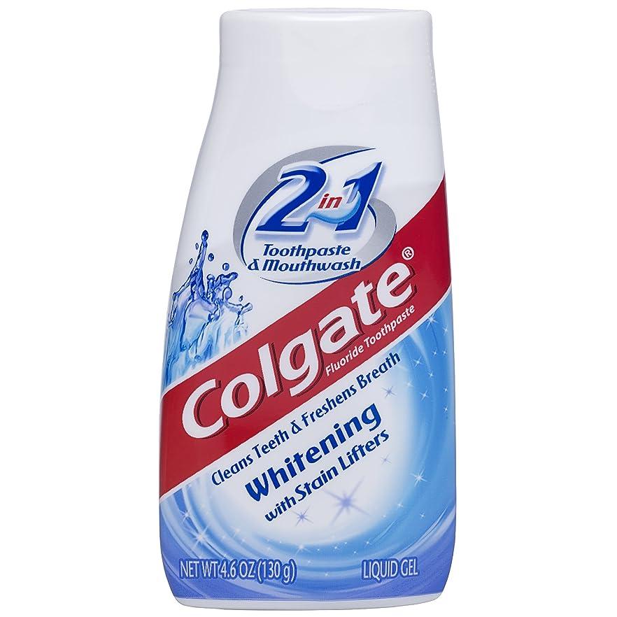 同様の政府株式会社海外直送品Colgate 2 In 1 Toothpaste & Mouthwash Whitening, 4.6 oz by Colgate