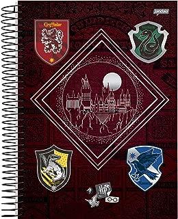 Caderno de 10 Matérias Capa Dura, Pacote com 4 Cadernos, 200 Folhas, Cores Sortidas, Jandaia, Modelo 63600