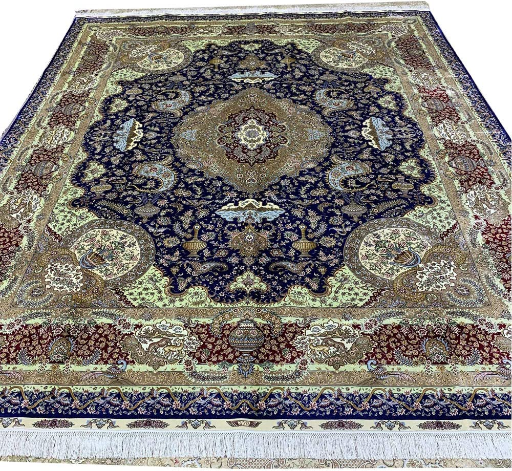 Yuchen Carpet 8'x10' Challenge the lowest price Red Handmade Persian Rugs Silk Deluxe Area Vintage