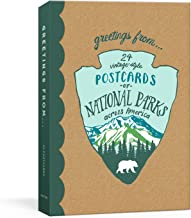 Greetings From: 24 Vintage-Style Postcards of National Parks Across America (Blackbird Letterpress)