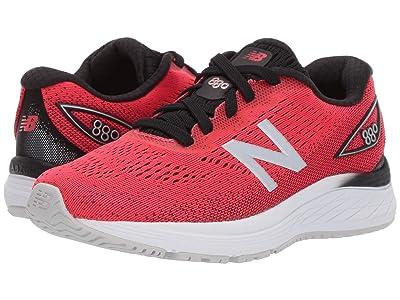 New Balance Kids YP880v9 (Little Kid/Big Kid) (Energy Red/Black) Boys Shoes