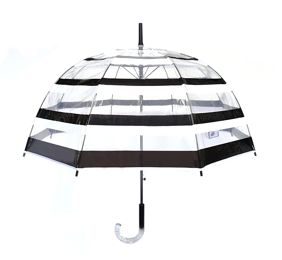 SMATI Stick Clear Umbrella - Windproof - Birdcage Dome See Through