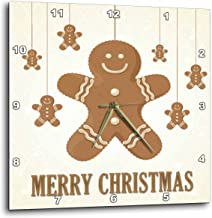 3dRose Ginger Bread Cookies Merry Christmas - Wall Clock, 13 by 13-Inch (DPP_200346_2)