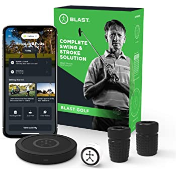 Blast Golf Swing Analyzer I Captures Putting, Full Swing, with NEW Short Game and Bunker Modes I Slo-Mo Video Capture I App Enabled, iOS and Android Compatible
