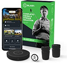 Blast Motion Golf Swing Analyzer I Captures Putting, Full Swing, with NEW Short Game and Bunker Modes I Slo-Mo Video Captu...