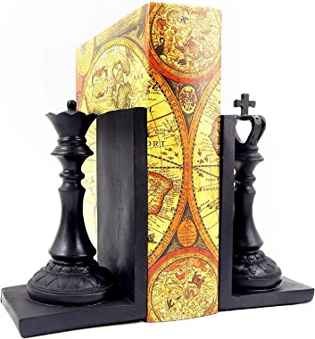 Bellaa 29745 Chess Bookend King and Queen 7 inch Royal Exquisite