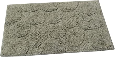 Textile Décor Castle Hill Bath Mat with Spray Latex Backing, Palm Design, 24 by 40-Inch, Sage