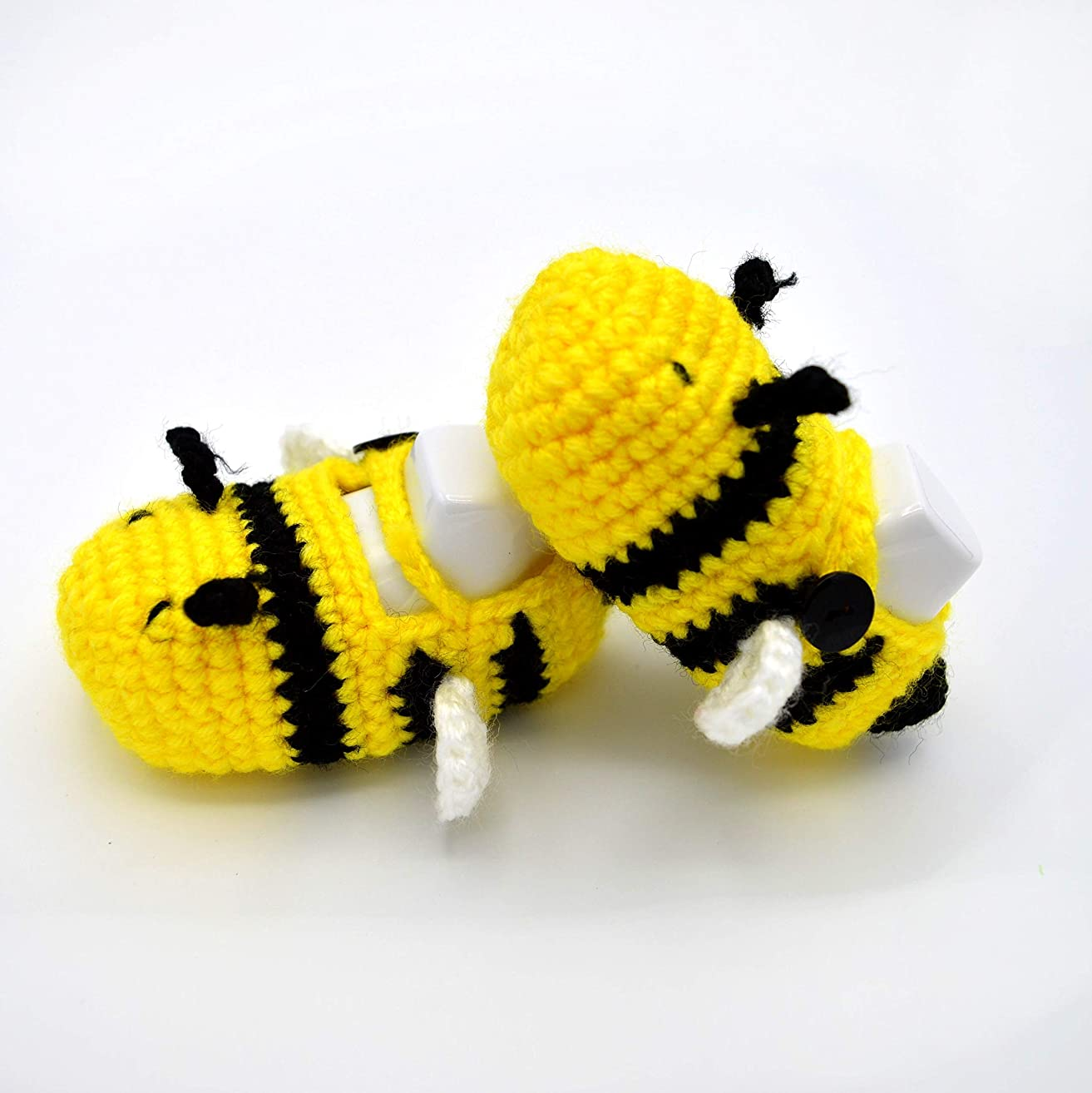 Crochet Baby Boy Shoes 0-6 months - Crib Shoes for Infant or Newborn - Baby Shower Gifts for Boy - Shoes for Babies - Baby First Shoes - Bumble Bee Shoes - Yellow