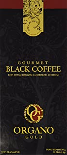 Organo Gold Black Ganoderma Coffee | Gourmet Mushroom Coffee in an Instant with Benefits of Certified Ganoderma Lucidum | ...