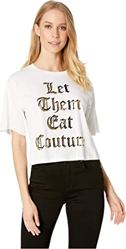 Knit Let Them Eat Couture Graphic Tee