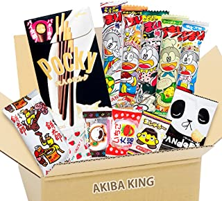 Pocky & Japanese snack DAGASHI con etiqueta AKIBA KING