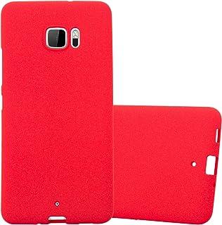 Cadorabo Funda para HTC U Ultra en Frost Rojo - Cubierta Proteccíon de Silicona TPU Delgada e Flexible con Antichoque - Gel Case Cover Carcasa Ligera