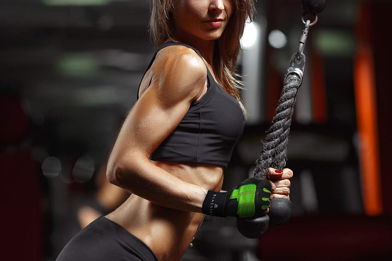 BLACKROX Fitnesshandschuhe echtes Leder Herren /& Damen V3 Boston Kraftsport Handgelenkschutz Trainingshandschuhe Gym Handschuhe Bodybuilding Gym Gloves Kraftsport