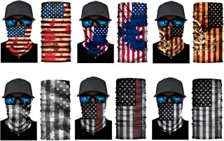 American Flag Outdoor Face Mask Multifunctional UV Protection Headwear Scarf for Men Women Motorcycling Hiking Cycling Ski...