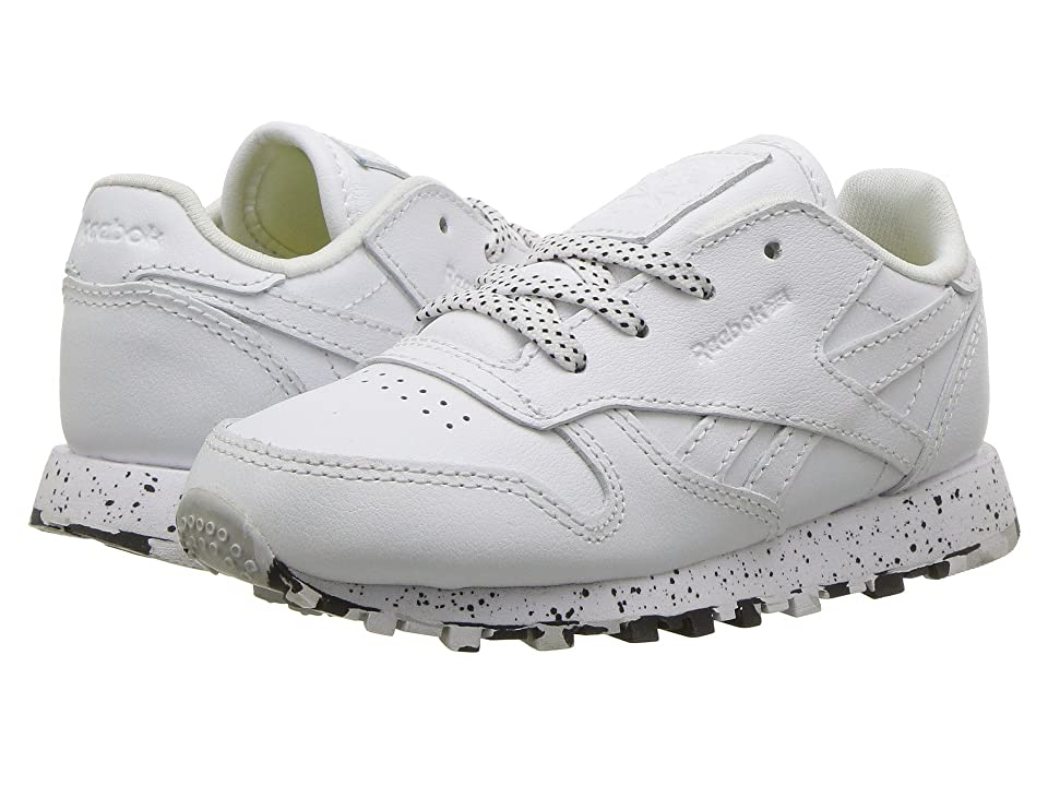 Reebok Kids Classic Leather (Infant/Toddler) (White/Black) Kids Shoes