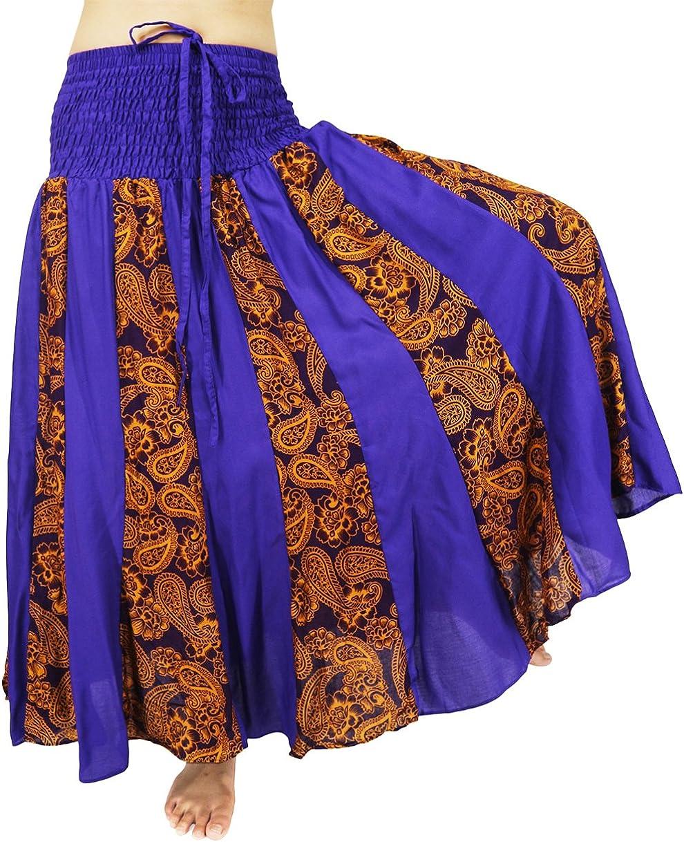 Lovely Creations Women's Maxi Skirt Smocked Waist 23-40 Inchs Jumpsuit