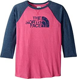 The North Face Kids - Tri-Blend 3/4 Sleeve Tee (Little Kids/Big Kids)