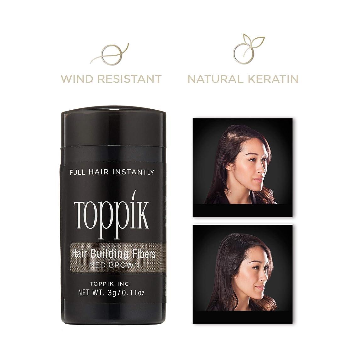 好戦的な窒息させるスペルTOPPIK 髪のビル繊維、0.11オンス 0.11オンス ミディアムブラウン