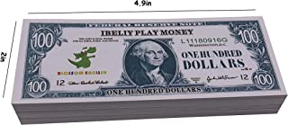 Motion Picture Money Prop Money Full Print 2 Side $100 Dollar Bills Copy Money Play Money Realistic Money Stacks for Kids, Students, Movie, Birthday Party, TV