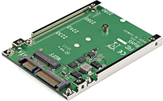 StarTech.com M.2 SSD to 2.5in SATA Adapter - M.2 NGFF to SATA Converter - 7mm - Open-Frame Bracket - M2 Hard Drive Adapter...