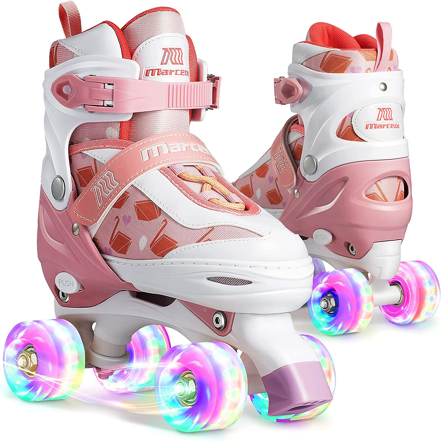 Marcent Roller All stores are sold Skates for Max 49% OFF Girls Boys Wheels up Light Kids with