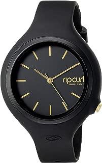 Rip Curl Women's 'Aurora' Quartz Plastic and Polyurethane Sport Watch, Color:Black (Model: A2696G-GOL)