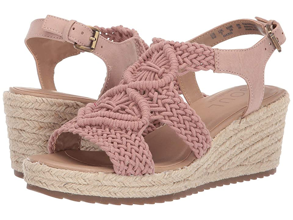 SOUL Naturalizer Oasis (Vintage Mauve Macrame/Fabric/Smooth) Women's Wedge Shoes, Pink