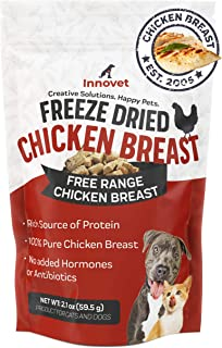 Innovet Pet Freeze Dried Treats - Chicken Breast - 3 Calories per Treat, Protein for Dogs, Freeze Dried Chicken, Training ...