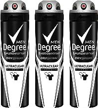 مردانه MotionSense Antiperspirant Deodorant Dry Spray، UltraClear Black + White، 3.8 اونس، بسته 3