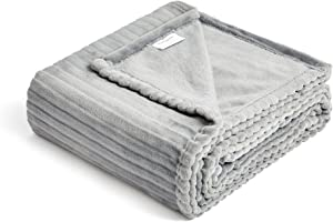 FFLMYUHUL I U Fuzzy Throw Blanket with Super Soft and Warm Throw Flannel Blanket