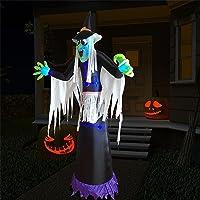 Kurala Halloween Decoration Outdoor Inflatable Witch 8 FT Deals