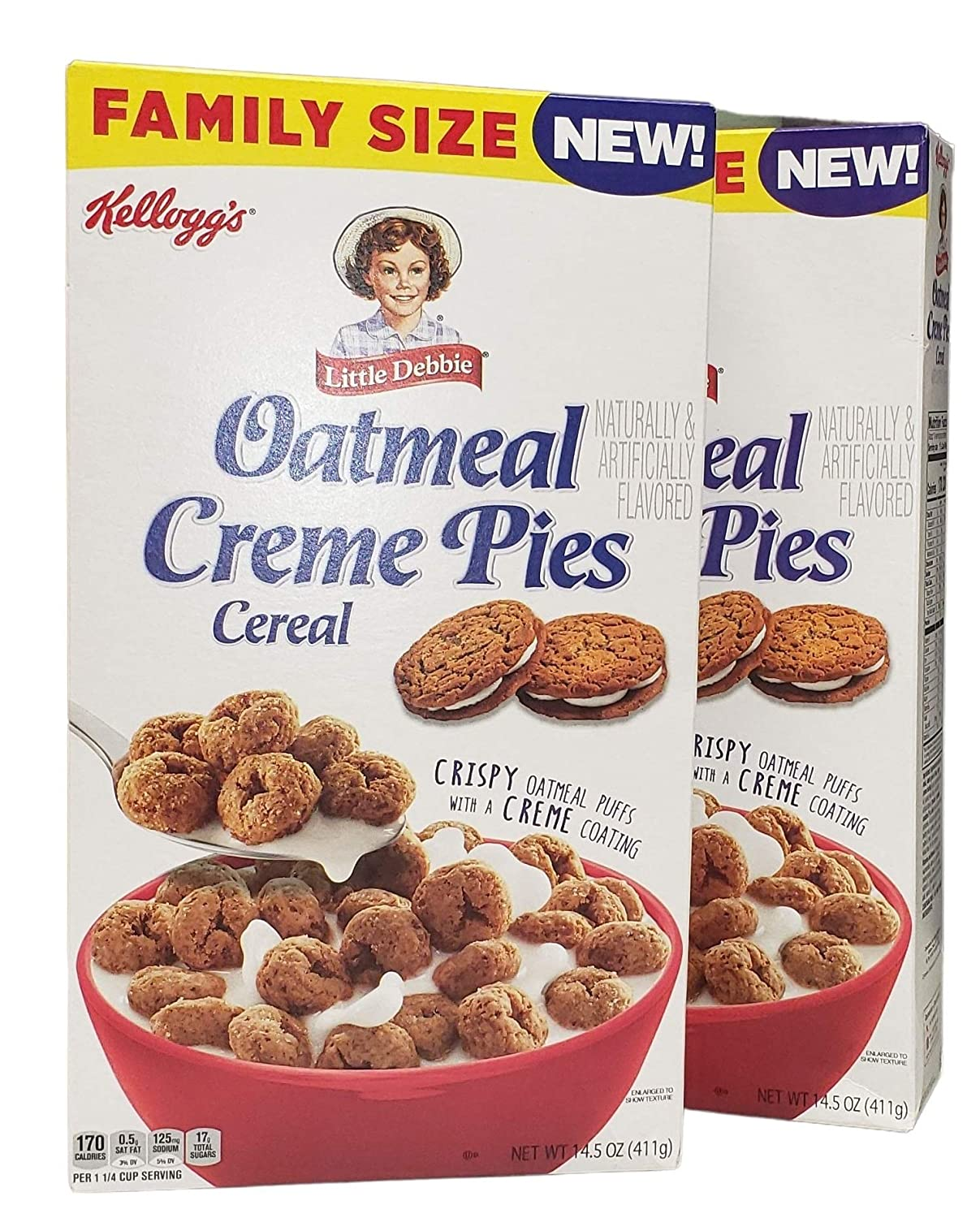 Oatmeal Creme Pies Cereal 14.5 oz (Pack of 2)