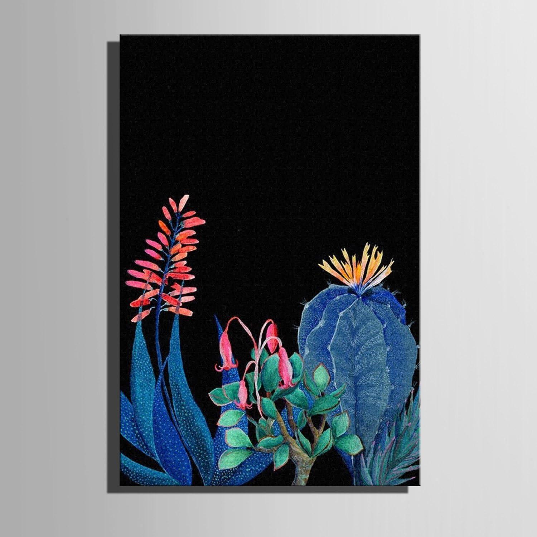 T&Q T&Qing Frameless Malerei, Leinwand Kunst Kaktus in der Nacht Dekoration Malerei, 50  70 B07KN2ZYJK    Zart