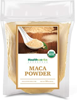 Healthworks Maca Powder Raw (32 Ounces / 2 Pounds) | Certified Organic Flour Use | Keto, Vegan & Non-GMO | Premium Peruvia...