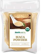Healthworks Maca Powder Raw (32 Ounces / 2 Pounds) | Certified Organic Flour Use | Keto, Vegan & Non-GMO | Premium Peruvia...
