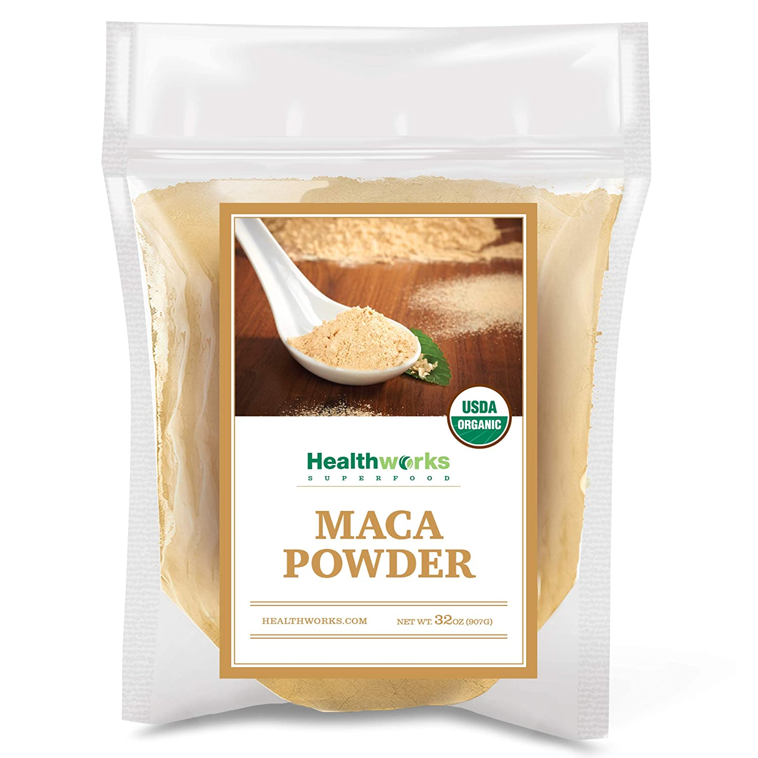 Healthworks Maca Powder Ranking TOP15 Raw Large discharge sale 32 O Pounds Certified 2 Ounces